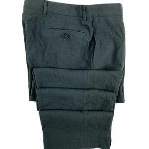 Giorgio Armani Light Gray Black Label Wool Pant